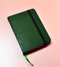 Monsieur Notebook Green Leather Ruled Small