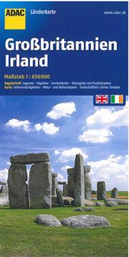 ADAC LänderKarte Großbritannien / Irland 1 : 650 000