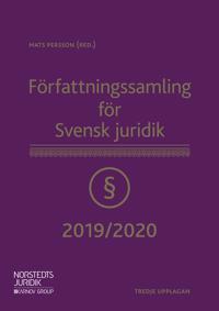 Författningssamling för Svensk juridik : 2019/2020