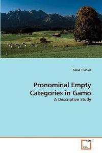 Pronominal Empty Categories in Gamo