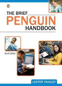 The Brief Penguin Handbook + New Mycomplab With Etext