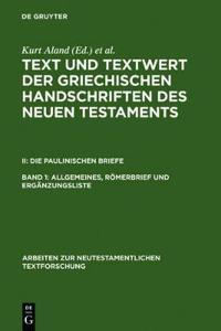 Text Und Textwert Der Griecheschen Handschriften Des Neuen Testaments
