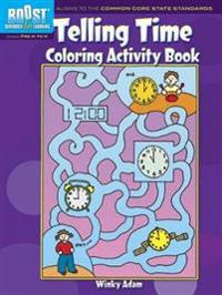 Telling Time Coloring Activity Book, Grades Pre-K to K