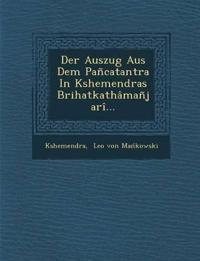 Der Auszug Aus Dem Pancatantra in Kshemendras Brihatkathamanjari...