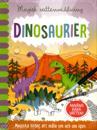 Magisk vattenmålning. Dinosaurier