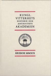 Kungl. Vitterhets historie och antikvitets akademien årsbok. 2019 -  pdf epub