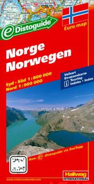 Hallwag Norwegen / Norway Road Map