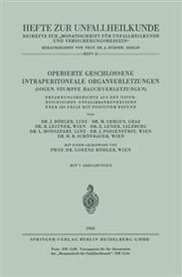 Operierte Geschlossene Intraperitoneale Organverletzungen