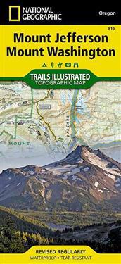 National Geographic Mount Jefferson, Mount Washington Map