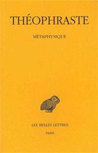 Theophraste, Metaphysique