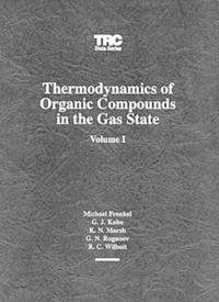 Thermodynamics of Organic Compounds in the Gas State