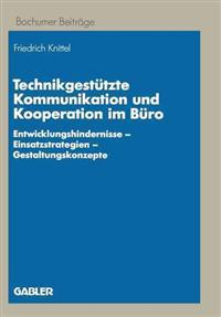 Technikgestutzte Kommunikation Und Kooperation Im Buro