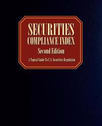 Securities Compliance Index, Second Edition
