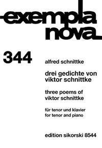 3 Poems of Viktor Schnittke: Tenor and Piano