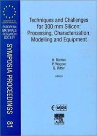 Techniques and Challenges for 300 Mm Silicon Processing, Characterization, Modelling and Equipment