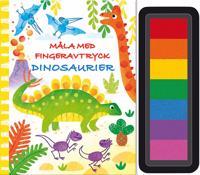 Måla med fingeravtryck. Dinosaurier