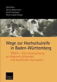 Wege Zur Hochschulreife in Baden-Wurttemberg