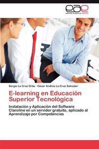 E-Learning En Educacion Superior Tecnologica