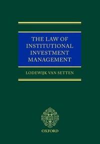 The Law of Institutional Investment Management