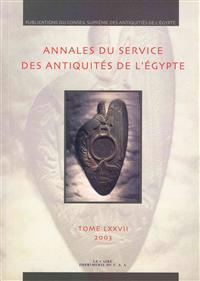 Annales Du Service Des Antiquit s de l'Egypte