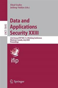 Data and Applications Security XXIII