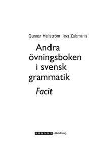 Andra övningsboken i svensk grammatik Elevfacit