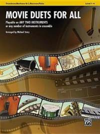 Movie Duets for All: Trombone/Baritone B.C./Bassoon/Tuba, Level 1-4