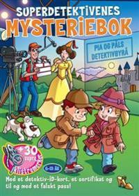 Superdetektivenes mysteriebok. Filmdetektivene. Med klistremerker, detektiv-id-kort, sertifikat og falskt pass