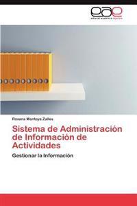 Sistema de Administracion de Informacion de Actividades