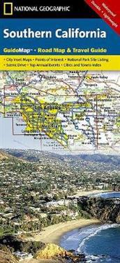National Geographic State Guide Map Southern California