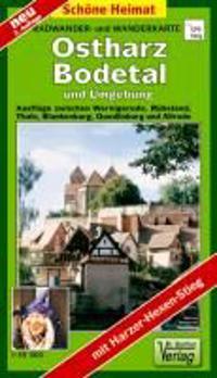 Radwander- und Wanderkarte Ostharz, Bodetal und Umgebung 1 : 35 000