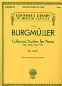 Burgmuller Collected Studies for Piano: Op. 100, 105, 109 for Piano