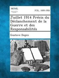 Juillet 1914 Precis Du Declanchement de La Guerre Et Des Responsabilites