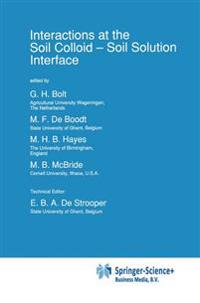 Interactions at the Soil Colloid-Soil Solution Interface