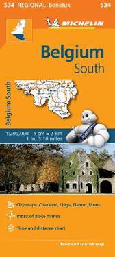 Belgium South - Michelin Regional Map 534