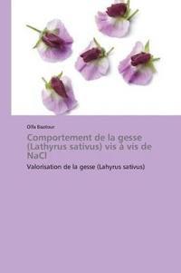 Comportement de la Gesse (Lathyrus Sativus) VIS � VIS de Nacl
