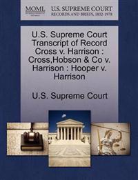 U.S. Supreme Court Transcript of Record Cross V. Harrison