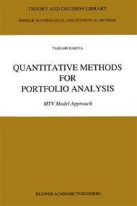 Quantitative Methods for Portfolio Analysis