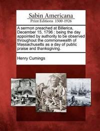 A Sermon Preached at Billerica, December 15, 1796