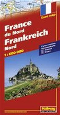 Norra Frankrike Hallwag karta : 1:600000