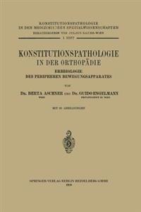 Konstitutionspathologie in Der Orthop die