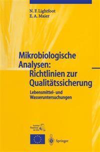 Mikrobiologische Analysen: Richtlinien Zur Qualit�tssicherung