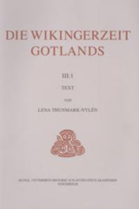 Die Wikingerzeit Gotlands. 3:1, Text