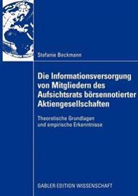 Die Informationsversorgung Von Mitgliedern Des Aufsichtsrats B rsennotierter Aktiengesellschaften