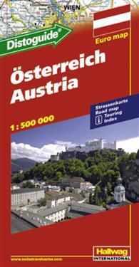Österrike Distoguide Hallwag karta : 1:500000