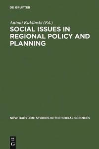Social Issues in Regional Policy and Planning