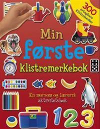 Min første klistremerkebok. En morsom og lærerik aktivitetsbok med 300 avtagbare klistremerker