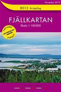 BD12 Arjeplog Fjällkartan : 1:100000