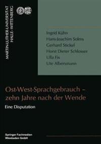 Ost-West-Sprachgebrauch