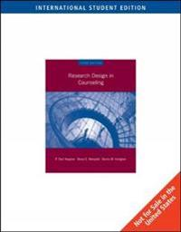 Research Design in Counseling, International Edition